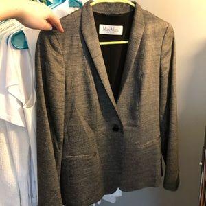 MaxMara Wool & Silk Blend Blazer Sz 2